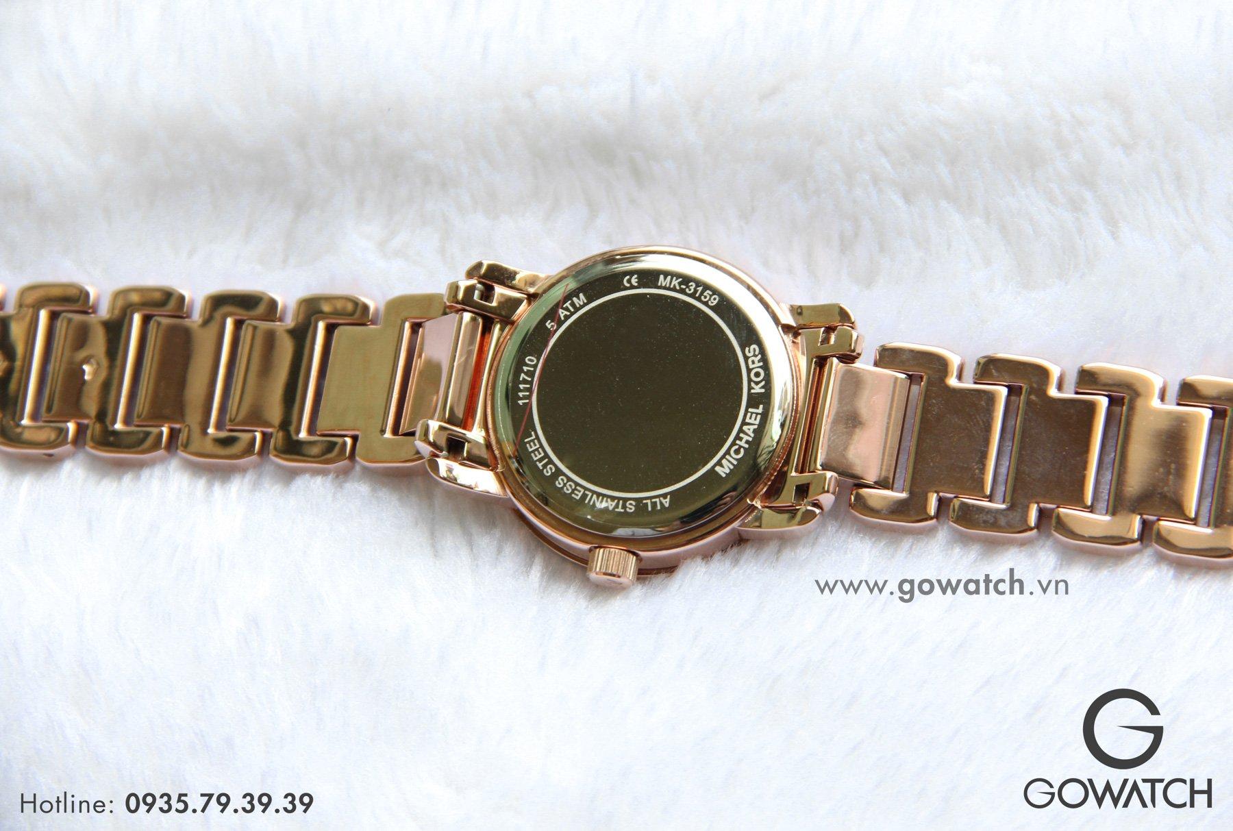 d4df7e8eeaac Đồng Hồ MICHAEL KORS Nữ Chính Hãng MK3159 Runway Rose Dial Ladies Watch