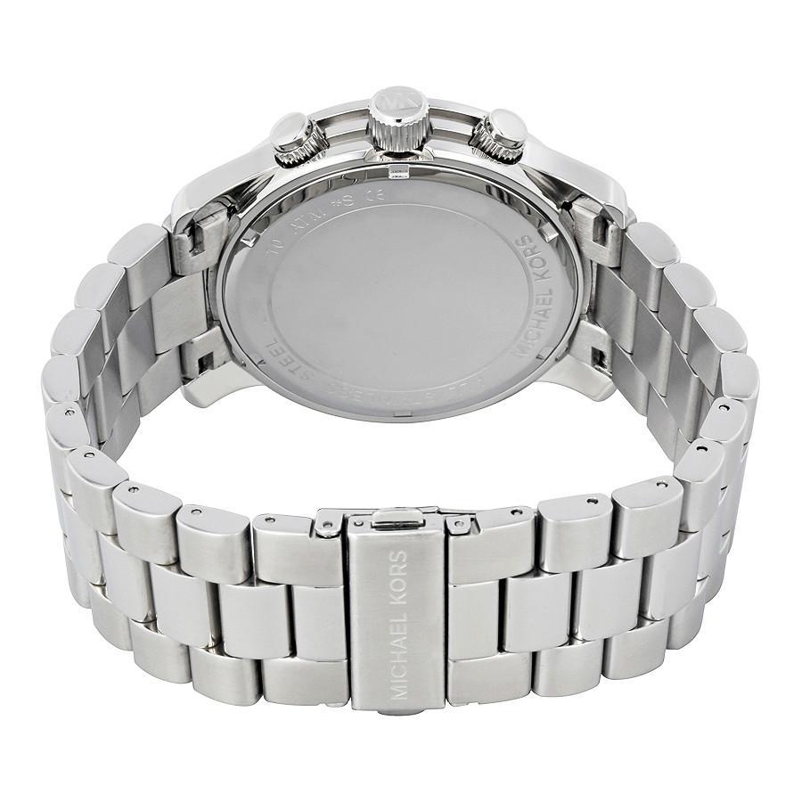 Đồng Hồ MICHAEL KORS Chính Hãng Nam MK8086 Silver Oversized Runway Watch 2ef18ad583